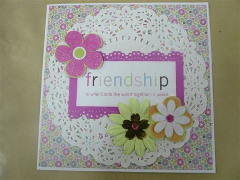 Handmade Friendship Cards - handmade cards for friendship in purple color trendy