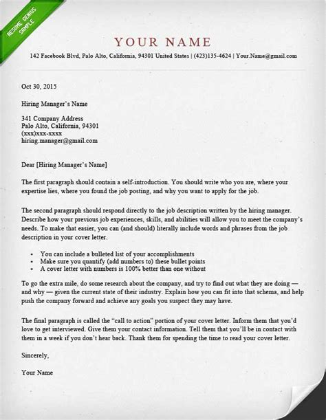 40 Battle Tested Cover Letter Templates For Ms Word Resume Genius Cover Letter Template For