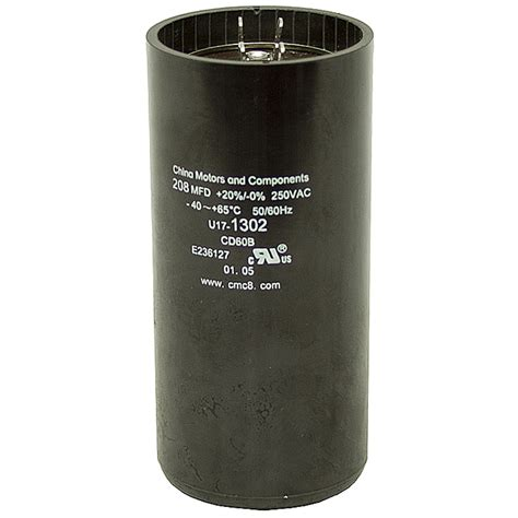start run capacitor motor 208 249 mfd 250 vac motor start capacitor motor start