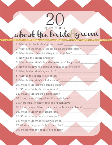bridal shower for the 20 questions 20 questions about the groom free winter wedding template wedding