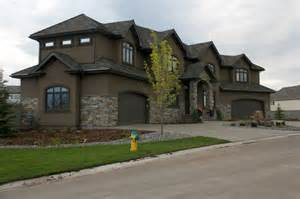 Exterior houses brown stucco builder upper stucco home brown house