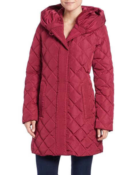 Gallery Quilted Coat by Gallery Quilted Puffer Coat In Lyst