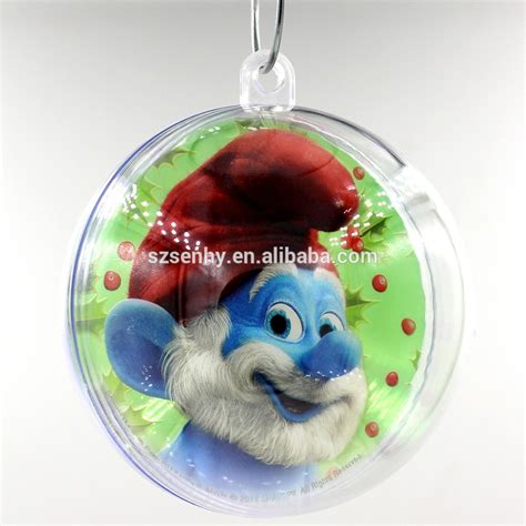 clear plastic acrylic fillable ball tree christmas