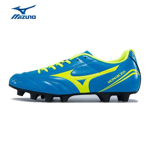 Mizuno Monarcida Md Soccer Cleats Football Shoes Black White Volt P1ga mizuno s monarcida fs md soccer shoes breathable cushioning sports shoes sneakers p1ga162344