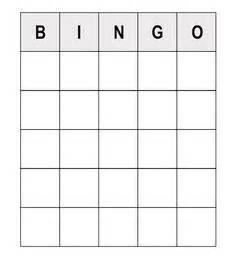 blank bingo card template 5x5 icebreaker bingo search ideas