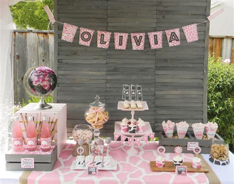 Pink Giraffe Baby Shower Decorations by It S A Jungle Out There With A Safari Baby Shower