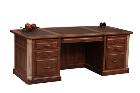 Amish Desk by Jefferson Premier Executive Desk From Dutchcrafters Amish