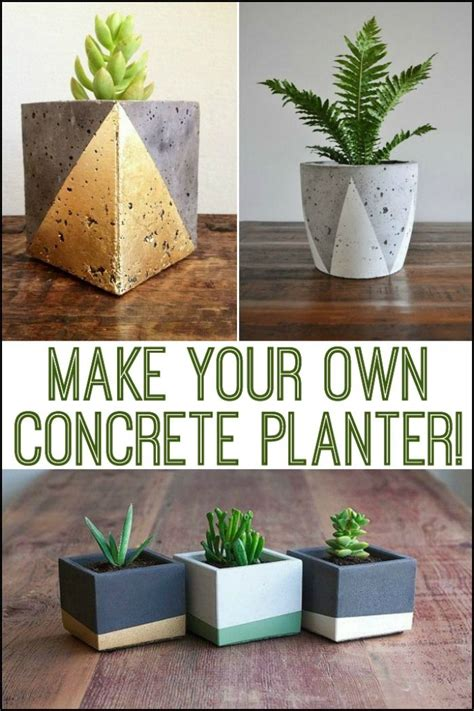Make Your Own Concrete Planters by 1000 Images About Diy For All On