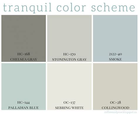 most calming color tranquil color scheme calming colors benjamin moore and
