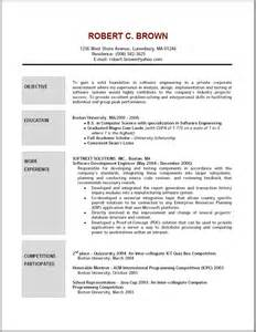 Objectives For A Resume Exles by Objective On Resume Exle Berathen