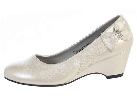 ivory wedge shoe
