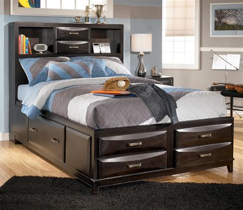 ashley furniture kira full storage bed  city furniture captains beds