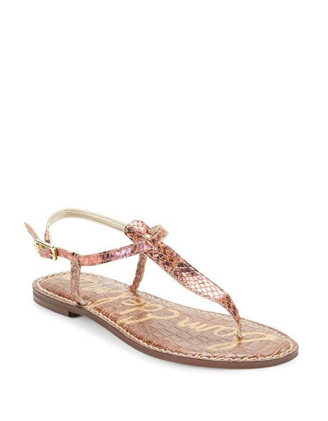 sandals at sam edelman gigi leather snake print sandals in