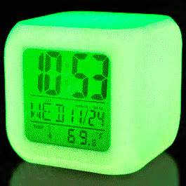 no light alarm clock color changing led digital alarm clock by