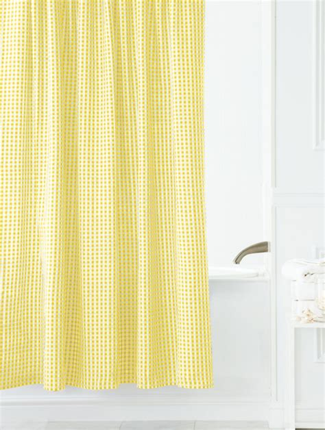 Fabric Shower Curtains Yellow Interior Design Ideas