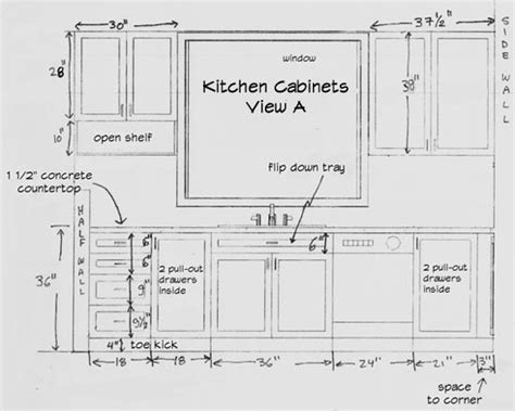 kitchen design dimensions standard kitchen cabinet height