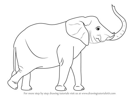 elephant trunk coloring page step by step how to draw an elephant with its trunk up