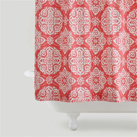 shower curtain coral coral amina medallion shower curtain world market