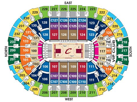 River Place Floor Plan by Seating Charts Quicken Loans Arena Official Website