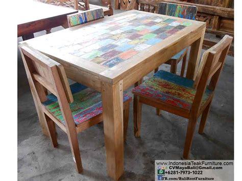bali boat furniture boat wood chair table set dining furniture bali