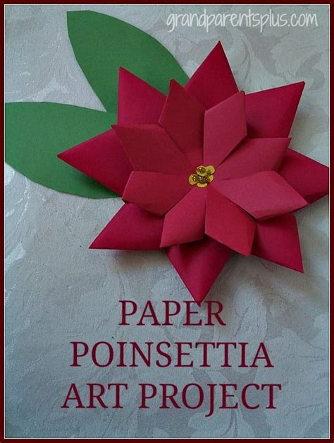 How To Make Paper Poinsettia Flowers - this paper poinsettia project is do able for