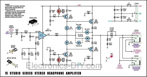 transistor headphone lifier schematic studio stereo headphone lifier circuit diagram world