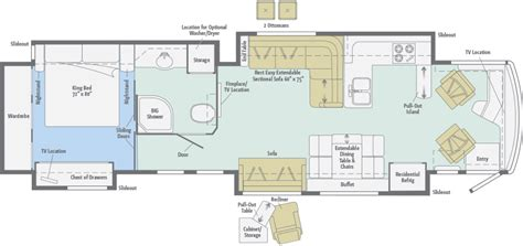 rv cer floor plans tour floorplans winnebago rvs