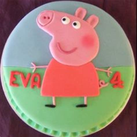 peppa pig stencil cake ideas and designs