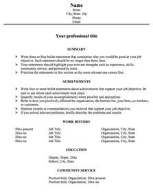 achievement resume template achievement resume format for really big resume problems