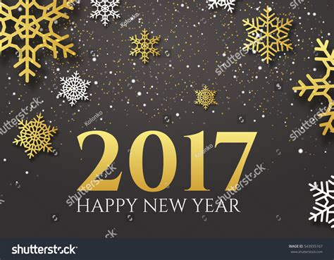 greeting end of year happy new year 2017 end 2016 stock vector 543935167