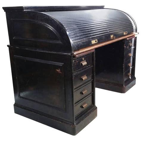 metal roll top desk antique industrial steel roll top desk quarter sawn oak