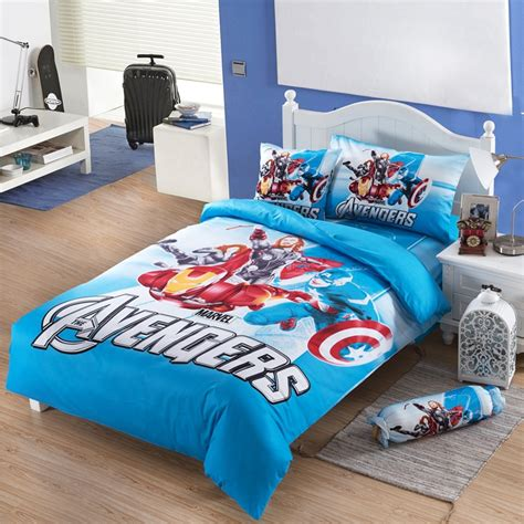 the avengers iron spider man kids cotton bedding set twin