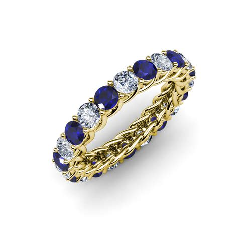 Blue Sapphire 12 3 Ct blue sapphire eternity band with side gallery 2
