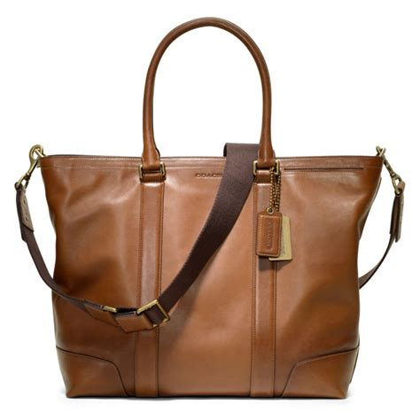 Coach Legacy Leather coach bleecker legacy leather business tote in brown lyst