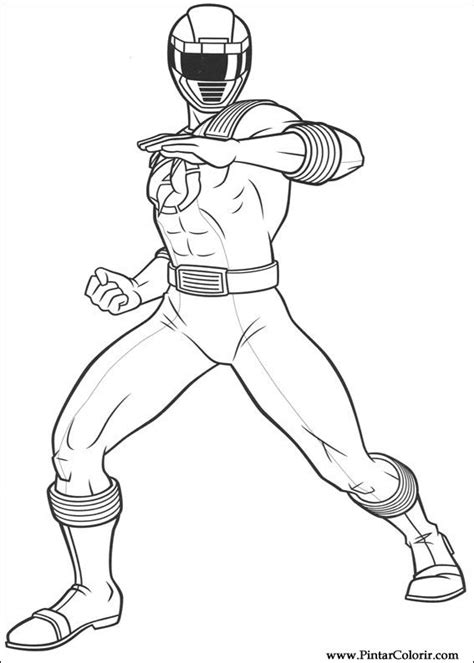 power ranger lost galaxy coloring pages