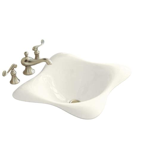 kohler square bathroom sink shop kohler dolce vita biscuit cast iron drop in square
