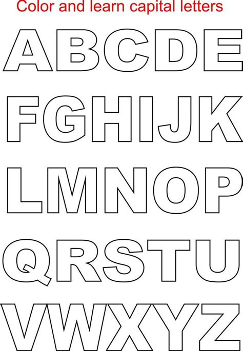 free printable alphabet letters to color free printable letters size alphabet gianfreda net