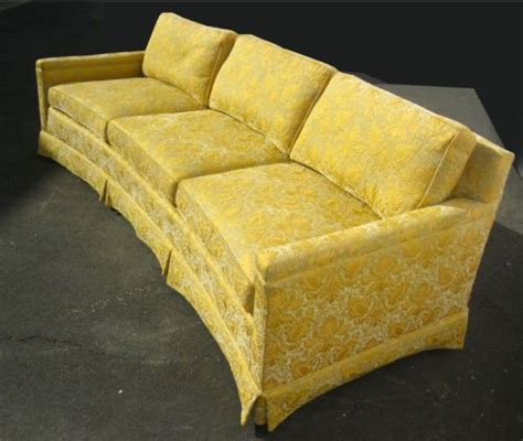 vintage henredon sofa vintage henredon goose down sofa couch gold silk brocade