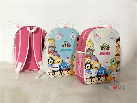 Lunch Bag Ransel Tenteng Fiber Tsum Tsum tas ransel tsum theme medan pictogoodie