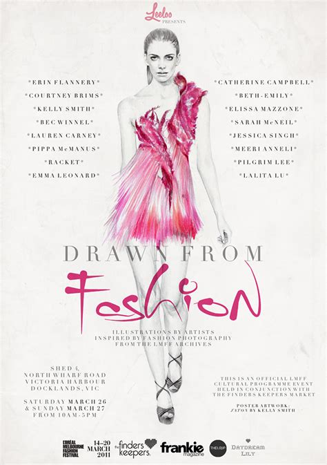 fashion show poster promo design 2014 on