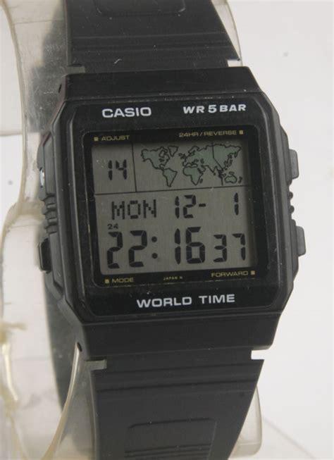 Casio Original Word Time vintage casio world time w 50u bangkokjunkman