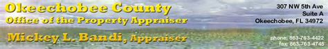 Okeechobee Property Record Search Okeechobee County Property Appraiser Okeechobee Fl