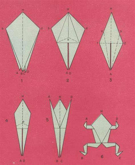 Rana Origami - pin origami rana on