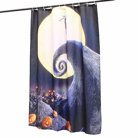 skull shower curtain hooks halloween nightmare moon skull polyester shower curtain