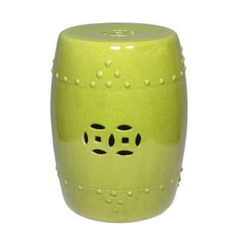 amazon com lime green ceramic garden stool patio lawn