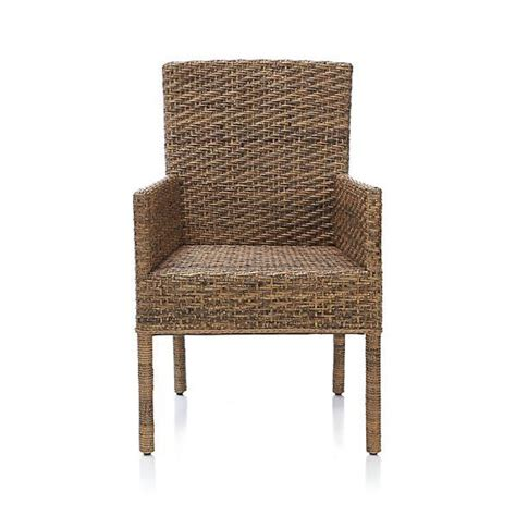 wicker barrel dining chair tigris arm chair crate and barrel