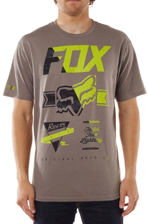 fox motocross shirts fox racing mens crinkle motocross short sleeve t shirt ebay