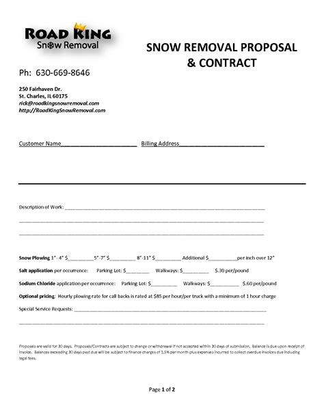 Snow Removal Invoice Invoice Template Ideas Snow Removal Quote Template