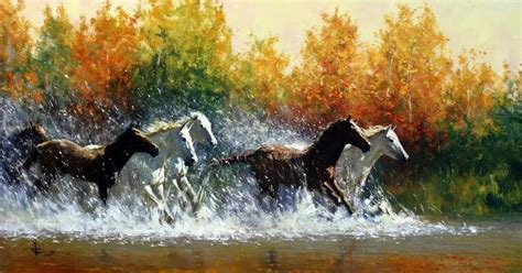 bob ross painting horses cuadros modernos pinturas y dibujos oleos de caballos