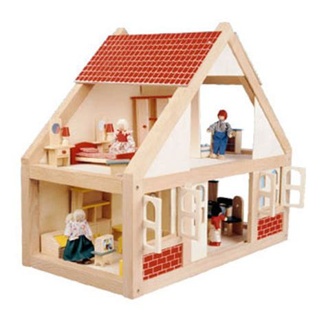 small wooden dolls house romantic flair original